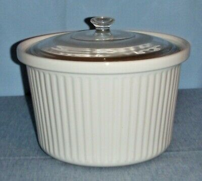 Slow Cooker Crock Pot REPLACEMENT INSERT Round White Ceramic Liner w/ Glass Lid