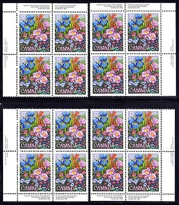 CANADA 1980 INTERNATIONAL FLOWER SHOW 17¢ STAMP INSCRIPTION BLOCKS SET Scott 855