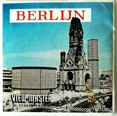 3x VIEW MASTER 3D REEL ⭐ BERLIJN ⭐ BERLIN / DEUTSCHLAND /GERMANY OST WEST C408-N