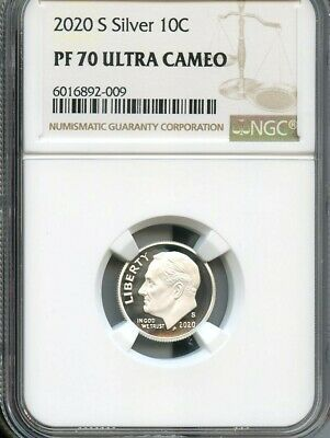 2020 S Silver Roosevelt Dime NGC PF70 Ultra Cameo Brown Label