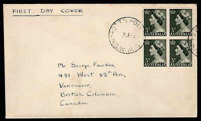 1953 QUEEN ELIZABETH II 3d PRE-DECIMAL STAMP UNOFFICIAL FIRST DAY COVER #53.34