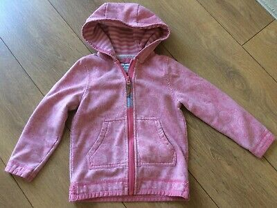 Fat Face Girls Zip Up Hoodie Age 4/5 Years