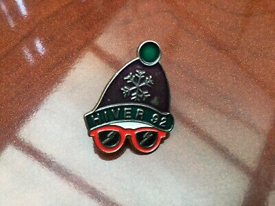 VINTAGE FRENCH SKI BADGE HIVER 92 Very Tidy Rare Nice Collectable Badge