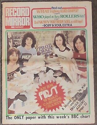 Vintage Record Mirror With Popswop Music Paper April 19th 1975 Alice Cooper