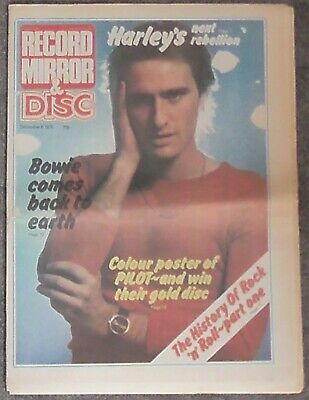 Record Mirror & Disc Music Paper 6th Dec 1975 Steve Harley Bowie Mud Sweet Pilot
