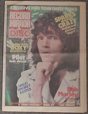Record Mirror & Disc Music Paper October 18th 1975 Sparks Smokey Mud Roxy Music