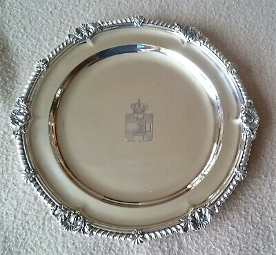 Antique Greek Russian Royalty English Solid Silver Dinner Plate 1879 Armorial 1