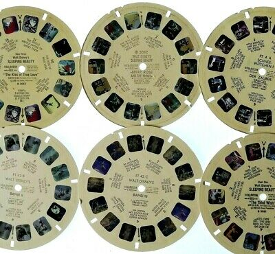 6x VIEW MASTER REEL ⭐ Walt DISNEY ⭐  BAMBI / SLEEPING BEAUTY / SCHNEEWITTCHEN