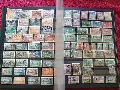 Commonwealth Stamp Collection A-Z In a Stock Book 21 Pages Full QV-QEII