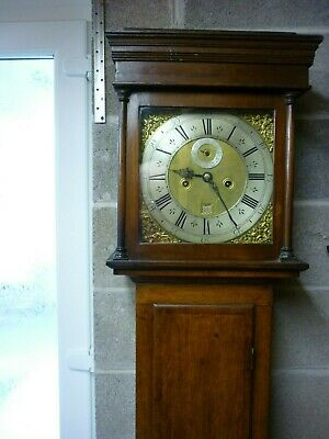 James Stevens London small oak longcase 8 day clock  Circa. 1720
