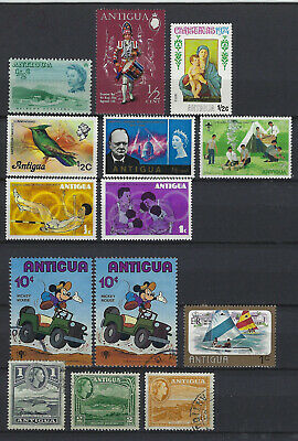 Lot Antigua, postfrisch + gestempelt, s. Scan (507)