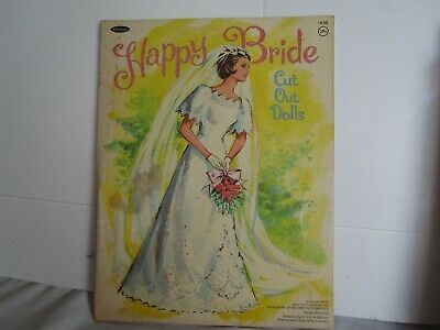Happy Bride Cut Out Dolls 1967