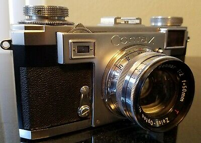 Zeiss Ikon Contax IIa Camera with Zeiss Sonnar 50mm F2 Lens