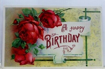 Greetings A Happy Birthday Postcard Old Vintage Card View Standard Souvenir Post