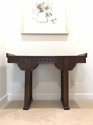 Miniature Chinese Antique Altar Table, Hand carved.