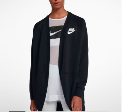 NWT Nike Modern Cardigan Women's Black ALL SIZES-AUTHENTIC-TERRY