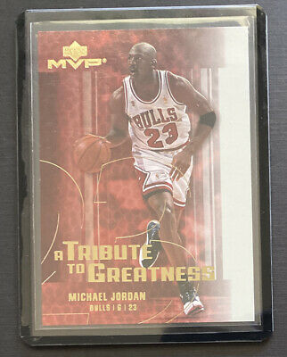 2003-2005 Upper Deck MVP A Tribute to Greatness Michael Jordan MJ7 Insert HOF