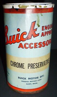 Vintage GM Buick Motor Division Chrome Preservative Paper Label Can NOS
