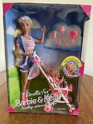 """Strollin' Fun Barbie And Kelly"" Barbie Doll 1995 Playset #13742 Mattel NIB"