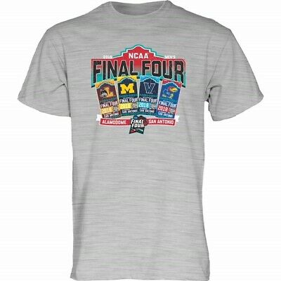 2018 NCAA Final Four Team Logos March Madness San Antonio Ticket T-Shirt