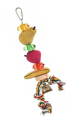 Fruity Chew Kabob Wooden Parrot Toy - Large