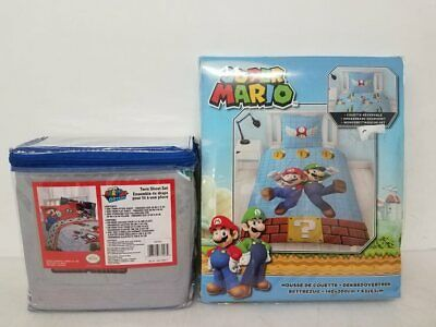 Lot Of 2 Super Mario Bed Sheets Sealed