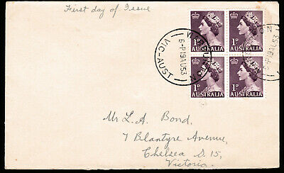 1953 QUEEN ELIZABETH II 1d PRE-DECIMAL STAMP UNOFFICIAL FIRST DAY COVER #53.23