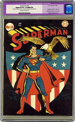 Superman #14 CGC 1.0 RESTORED 1942 0107275001