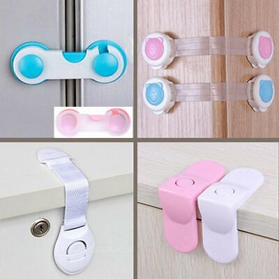 Baby Child Kid Box Drawer Cupboard Cabinet Wardrobe Door Fridge Safe Locks DA