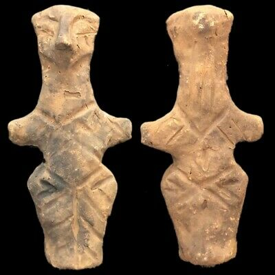 Ultra Rare Huge Stone Age Ancient Neolithic Anthromorphic Vinca Idol 4500BC (1)