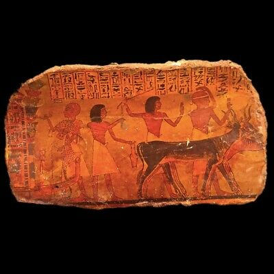Large Ancient Egyptian Hieroglyhic Style Plaque (4)