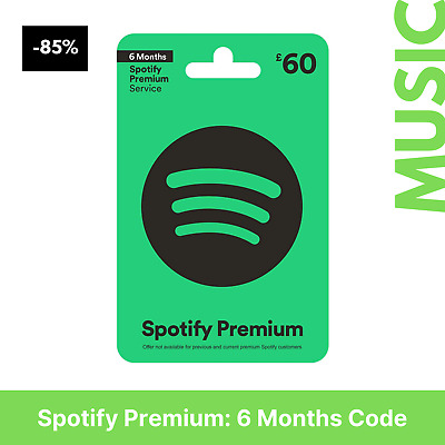 Spotify Premium: 6 Months Code (New Accounts Only) FAST DELIVERY