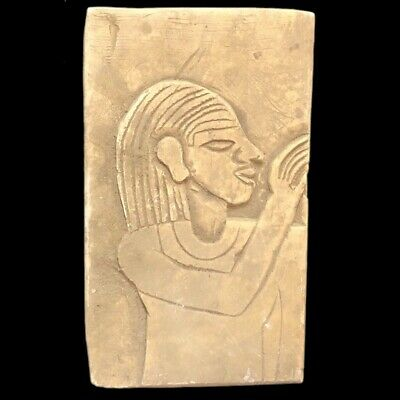 Large Ancient Egyptian Plaque  Late Period 664 - 332 Bc (8)
