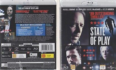 Nordic Blu-Ray Import - State Of Play - Region ABC (All) 2010