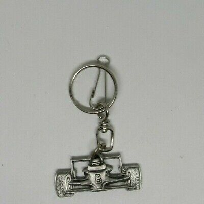 Pewter race car key chain