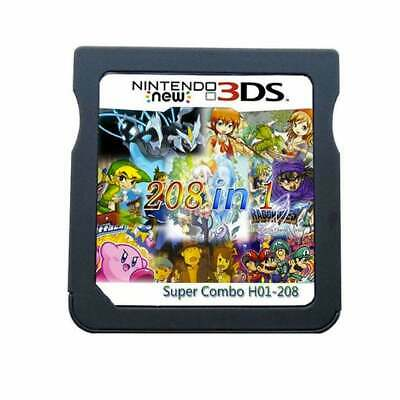 208 in 1 Games Cartridge Multicart For Nintendo DS 3DS 2DS DSI USA SELLER