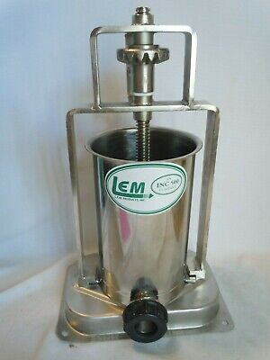L.e.m. Products Verticle 5 Lb Capacity Stainless Sausage Stuffer Usa