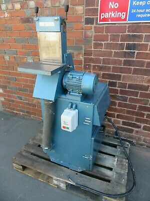 RJH 150mm Vertical Bandfacer Linisher Sander With Built In Extraction Systmem