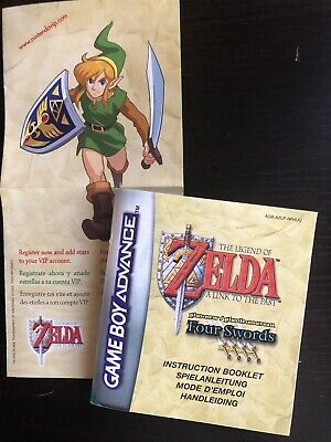 Gameboy Advance (GBA) // Zelda - A Link to the Past - Anleitung/Instructions PAL