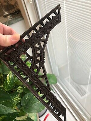 "ANTIQUE ORIGINAL Cast Iron Shelf Bracket Victorian Eastlake 6.25"" X 8.75"""