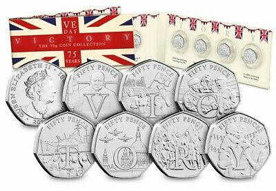 2020 75th Anniversary Victory VE Day Isle Of Man Coin Set