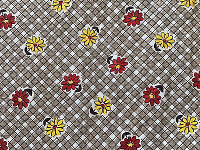 5 Yds.Vintage Cotton Fabric Feedsack Depression Era Quilting Dress Yardage