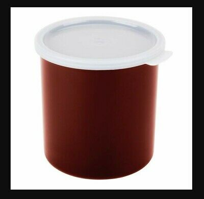 Cambro Crock with Lid 1.2 Quart, Reddish Brown