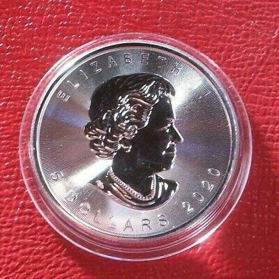 CANADA ~2020 $5 SILVER MAPLE LEAF 1 oz .9999 ~ NEW from Roll