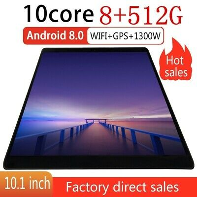 "10.1"" Android 9.0 Tablet PC 8+256G 512G 4G GSM Unlocked Wifi Google Phablet Lot"