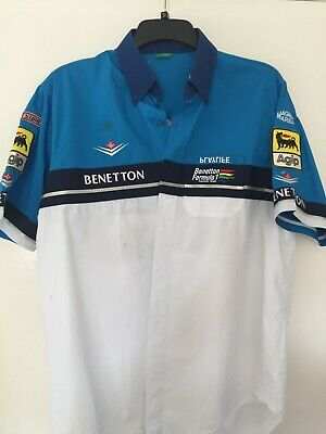 Official Benetton Formula One F1 Race Team Pit Crew Shirt