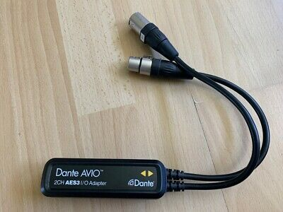 Dante Audinate Avio AES Adapter