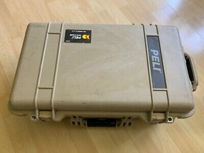 Peli Case 1510 auf Rollen, sandfarben, on wheels, sand-coloured