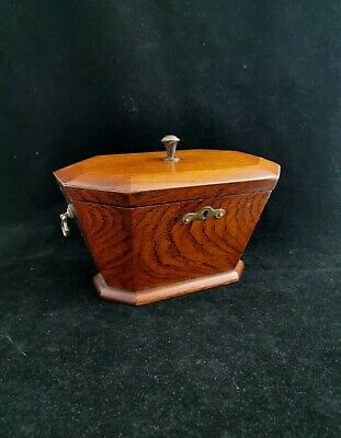 Antique Georgian tea caddy, fine wooden tea box