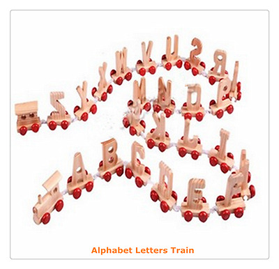New Kids Children Wooden Alphabet Train Letters Personalised Name (4 Letters)